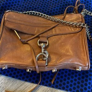 Rebecca minkoff mini Mac crossbody tote in camel